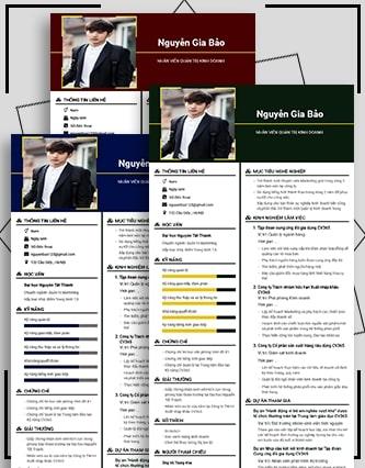 CV quản trị kinh doanh