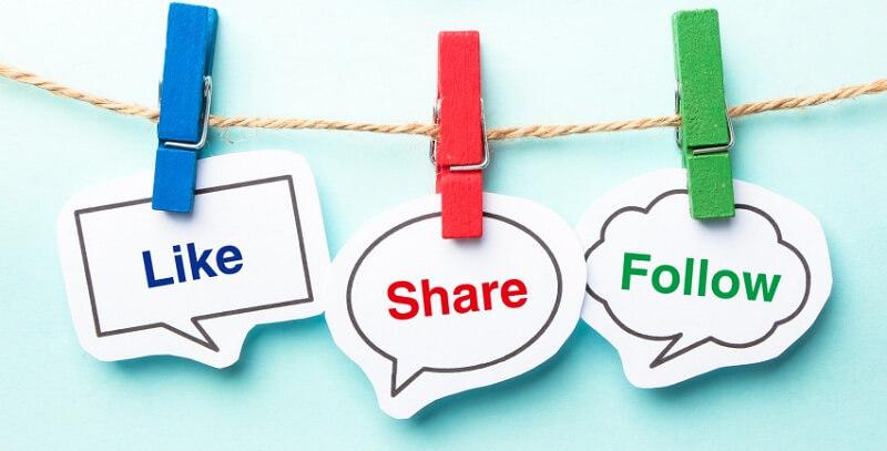 Các hành động thể hiện sự tương tác facebook