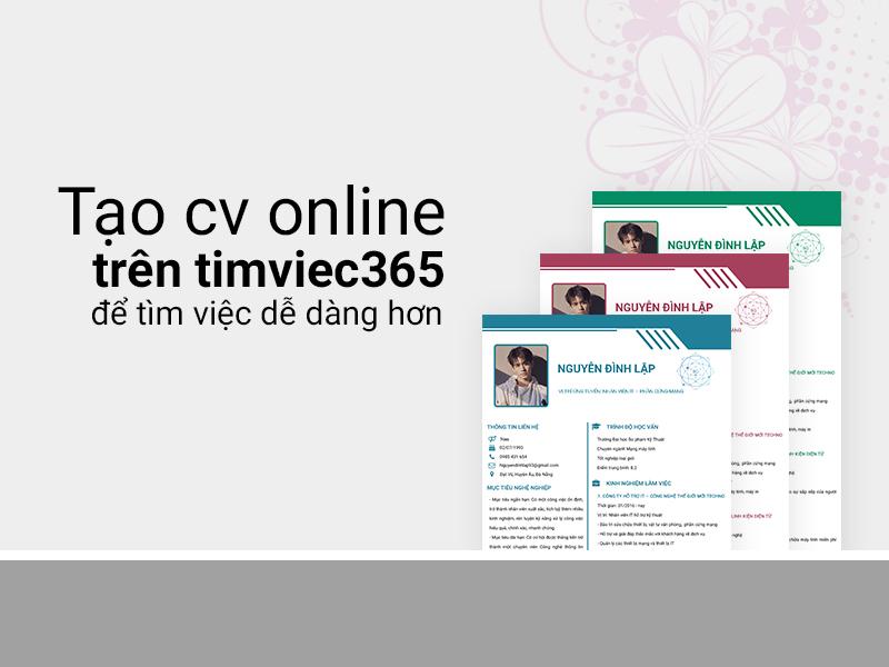 CV xin việc trên timviec365