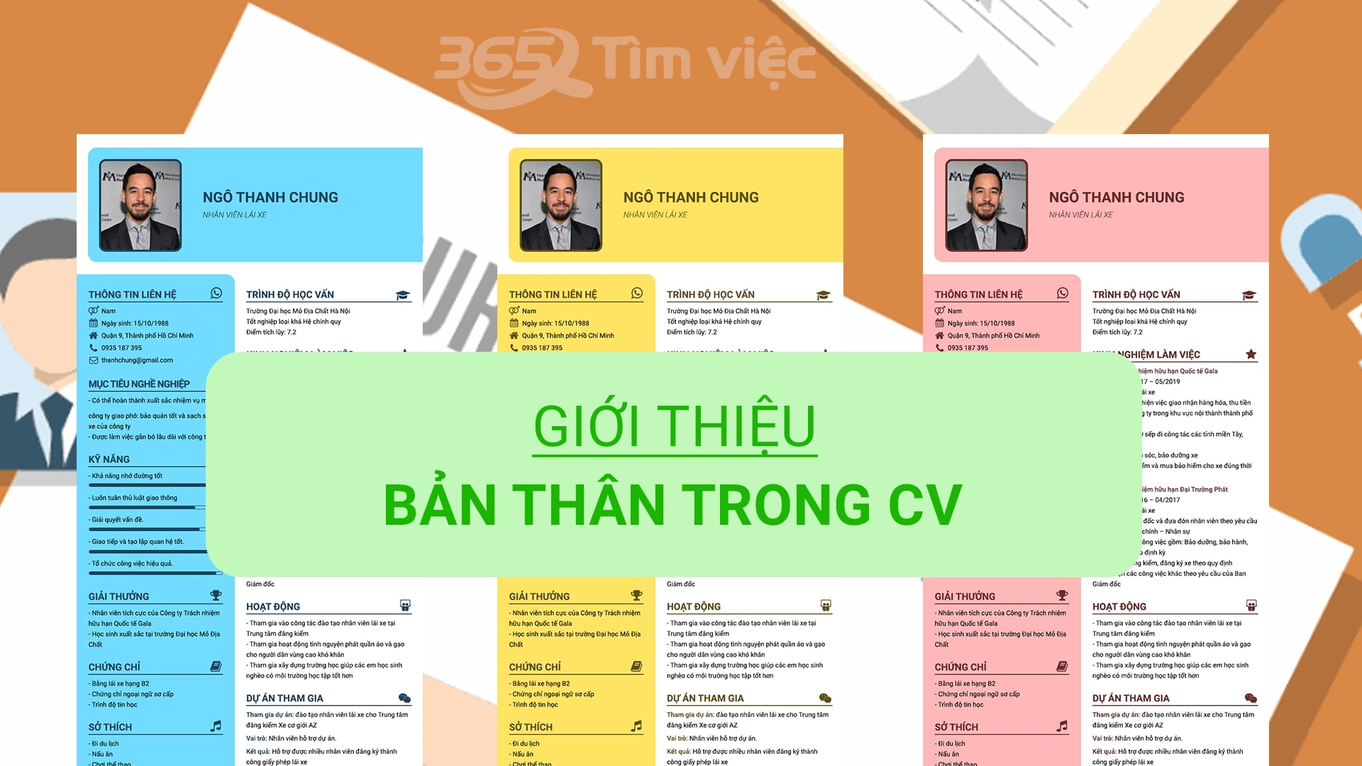 Nội dung nổi bật của mẫu CV giám sát bán hàng