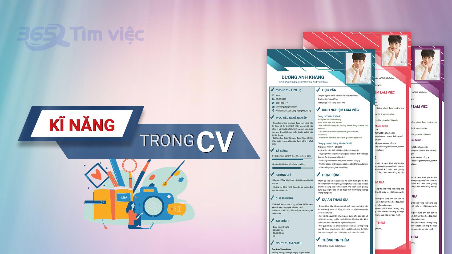 Những thông tin cần thiết trong CV giám sát bán hàng